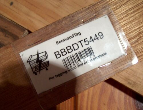 Tags designed for wooden products